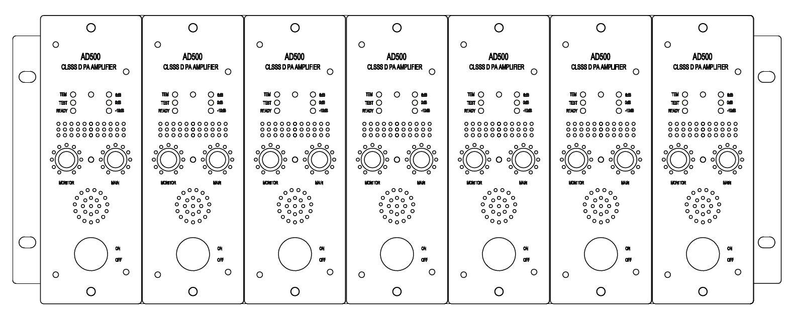 PA8100 8通道100W 100V 2U集成定压数字放大器